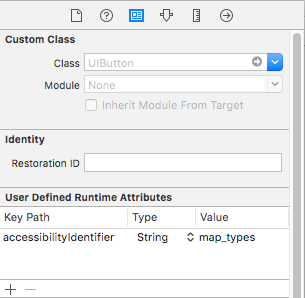 Setting an accessibility identifier